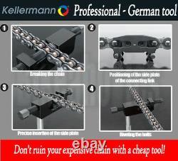 Kellermann KTW 2.5 Professional Chain Breaker / Riveter / Splitter Tool for Hyos