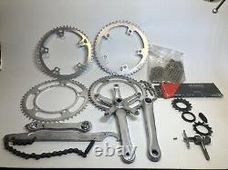 Suntour Superbe Pro Track Crankset Chainring Fixed Gear Mixed Lot Tools +