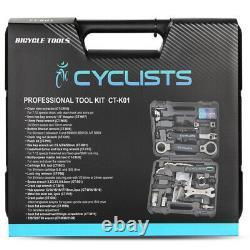 Outils Professionnels De Réparation De Bicyclette 18 En 1 Outils D'entretien De Pédale De Chaîne De Clé
