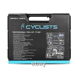 Réparation De Vélo Professionnel Cycling Multitool Kit Boîte Set Chaîne Clé Hex